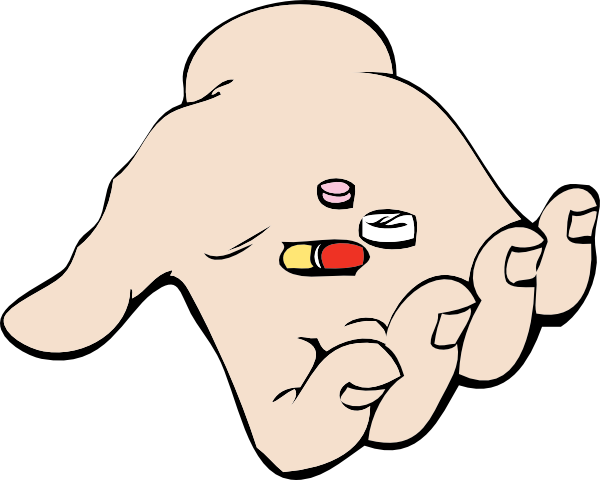 free vector Hand And Pills clip art