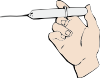 free vector Hand And Syringe clip art