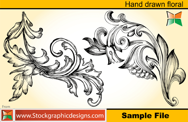 free vector Hand Drawn Floral 2