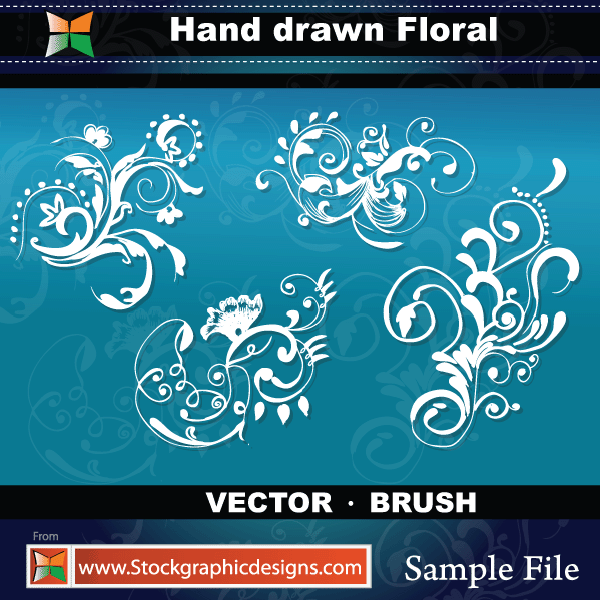 free vector Hand Drawn Floral