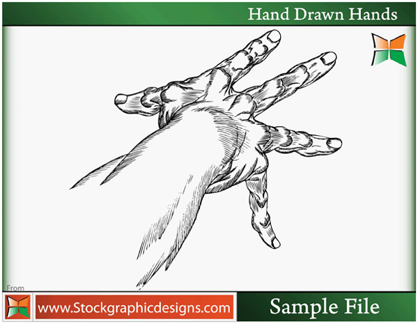 free vector Hand Drawn Hands