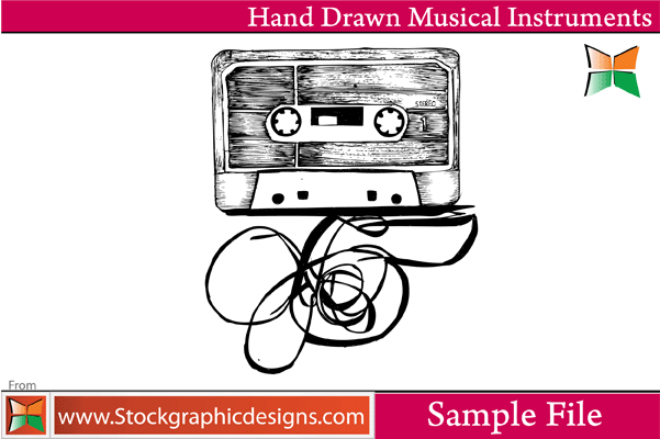 free vector Hand Drawn Musical Instruments