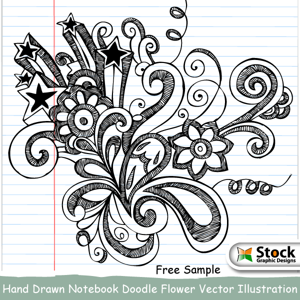 free vector Hand Drawn Notebook Doodle Flower Vector Illustration
