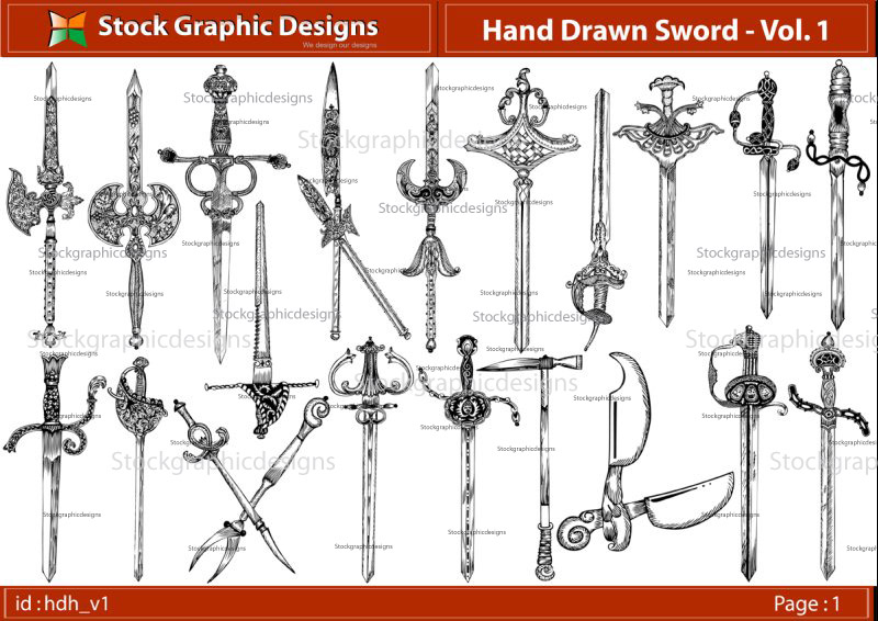 free vector Hand Drawn Sword