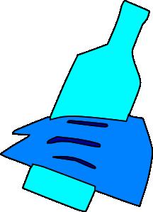 free vector Hand Holding Bottle clip art
