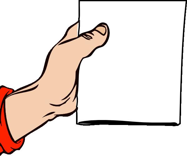 free vector Hand Holding Brochure clip art