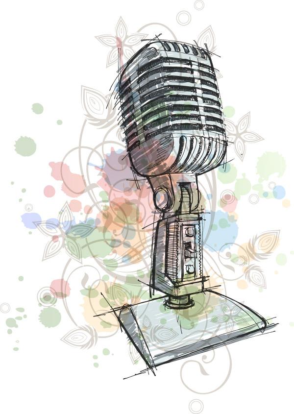free vector Hand microphone vector