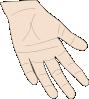free vector Hand Palm clip art