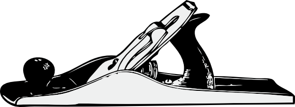 free vector Hand Plane clip art