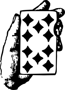 free vector Hand With Ten Of Diamonds clip art