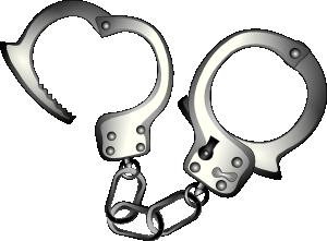 free vector Handcuffs  clip art