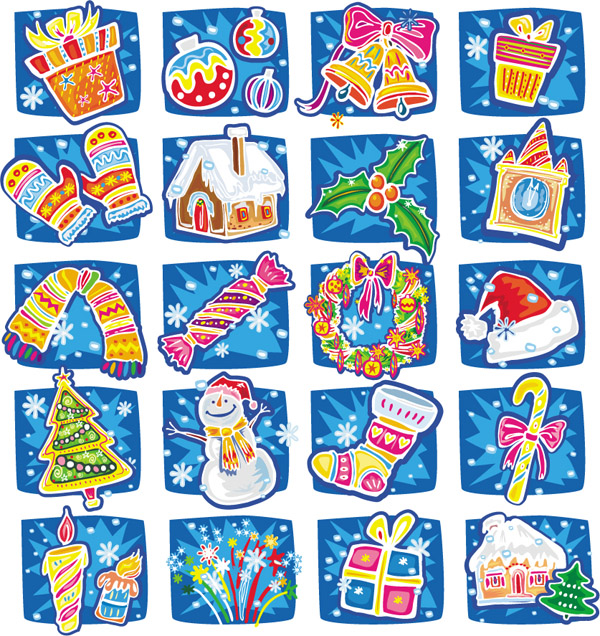 free vector Handdrawn cartoon christmas vector