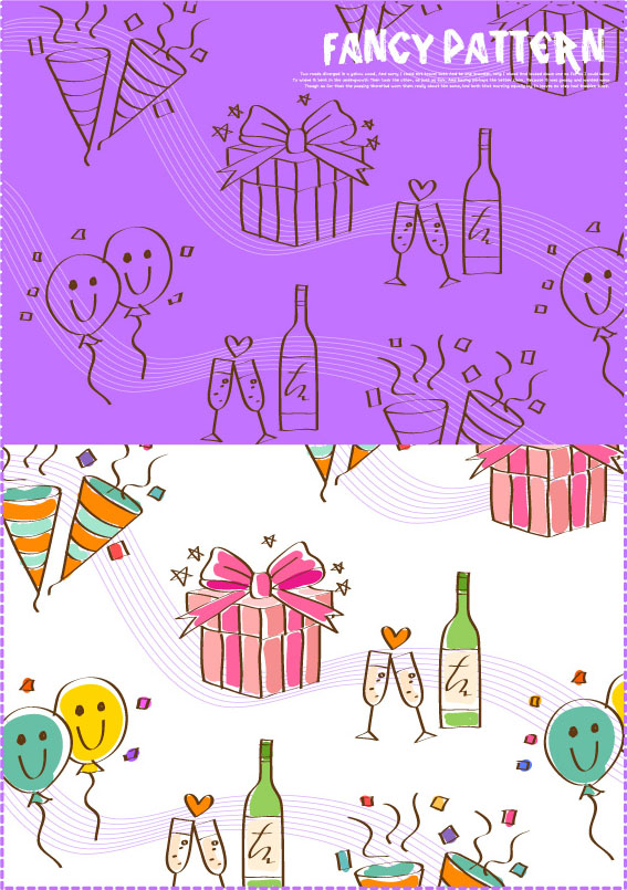 free vector Handdrawn cartoon clip art daily