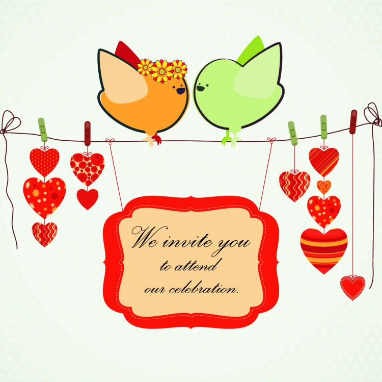 free vector Handdrawn illustration love birds 02 vector