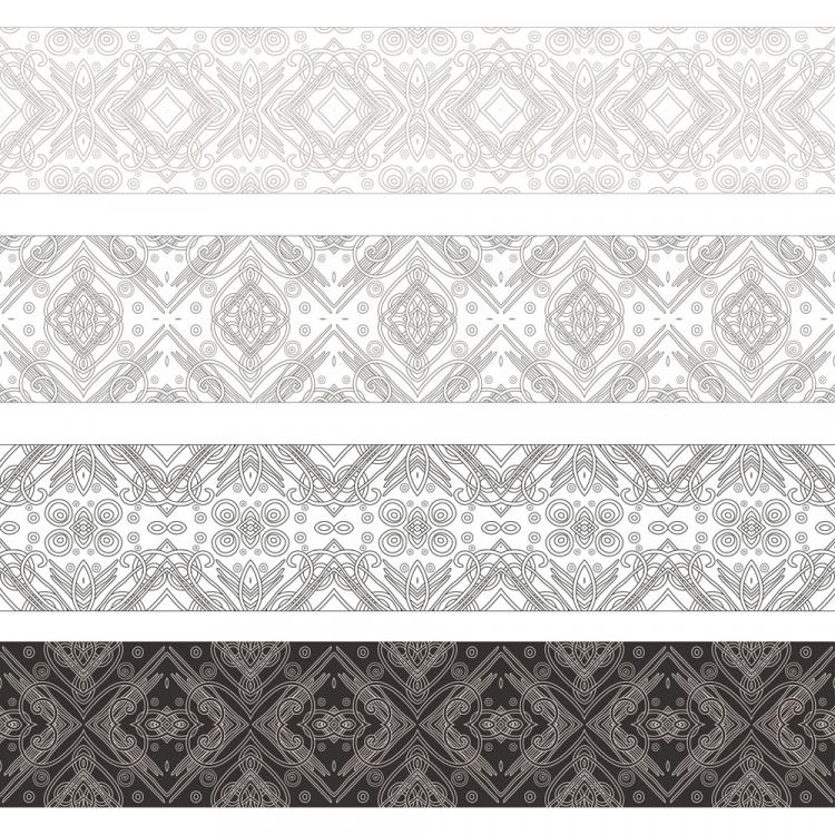 free vector Handdrawn lines pattern 01 vector
