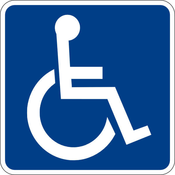free vector Handicapped Accessible Sign clip art