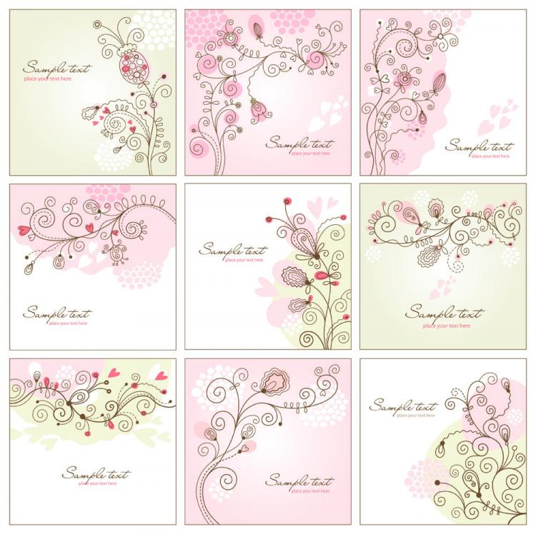 free vector Handpainted background pattern 01 vector