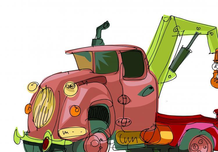 free vector Handpainted cartoon car 04 vector