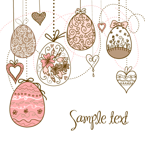 free vector Handpainted easter pattern 03 vector
