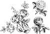 free vector Handpainted flowers 01 vector