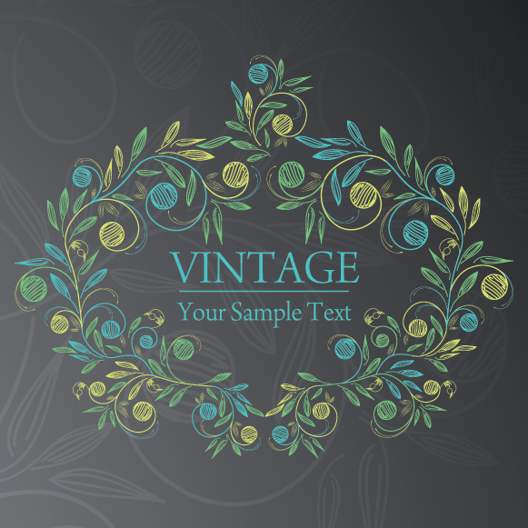 free vector Handpainted flowers vector background