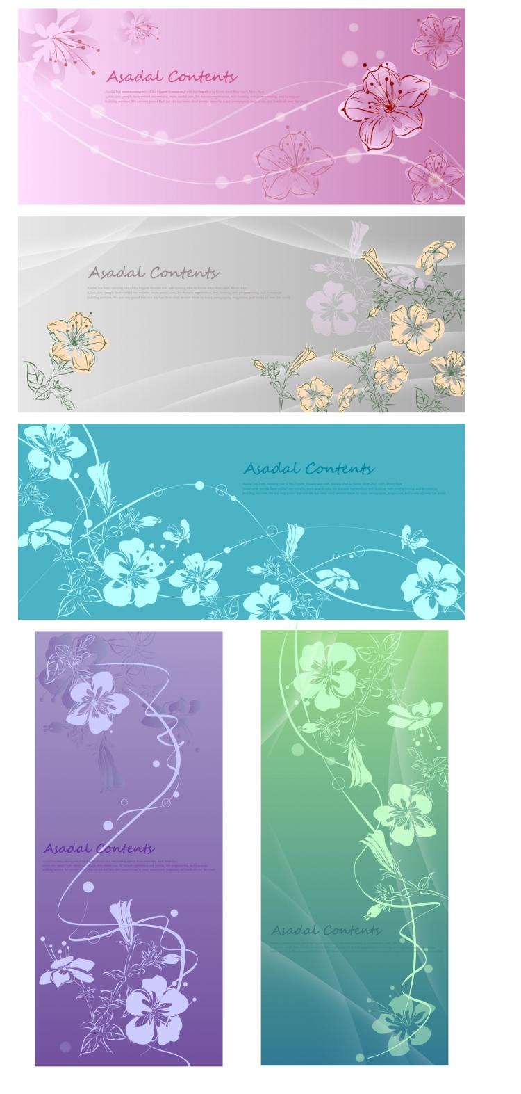 free vector Handpainted flowers vector dream