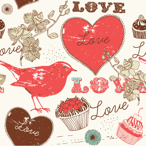 free vector Handpainted love element vector