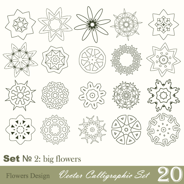 free vector Handpainted pattern style 02 vector