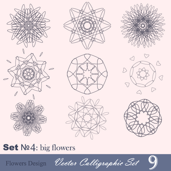 free vector Handpainted pattern style 04 vector