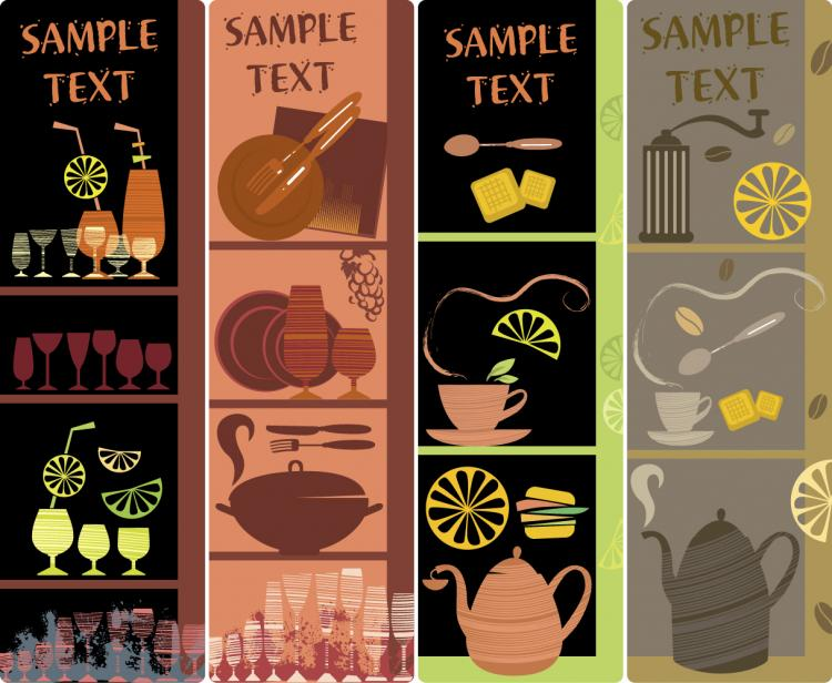 free vector Handpainted tableware illustration vector