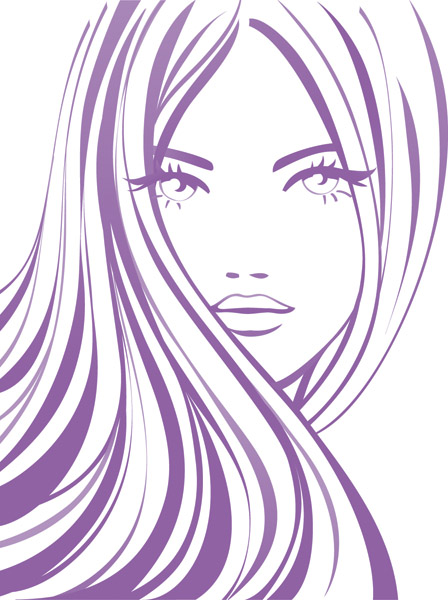 free vector Handpainted women vector