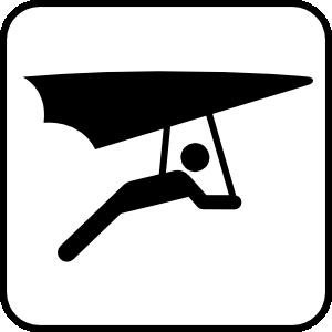 free vector Hang Glider clip art