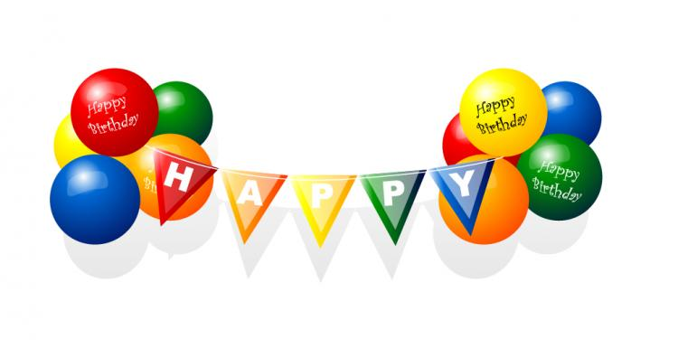 free vector Happy birthday balloon vector