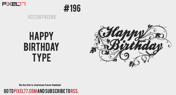 free vector Happy Birthday Type