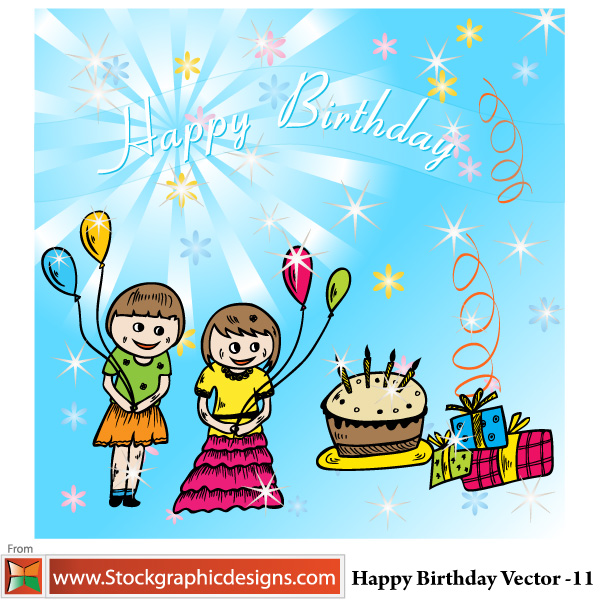 free vector Happy Birthday Vector
