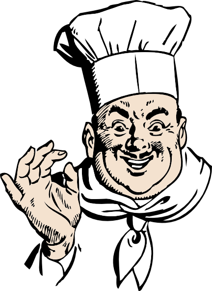 free vector Happy Chef clip art