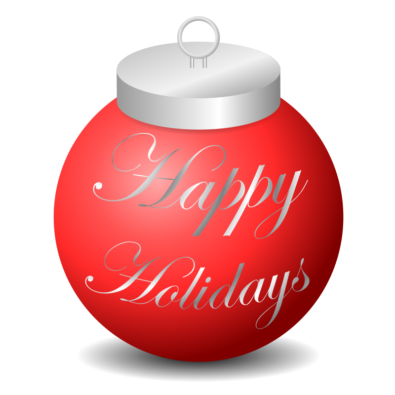 free vector Happy Holidays Ornament