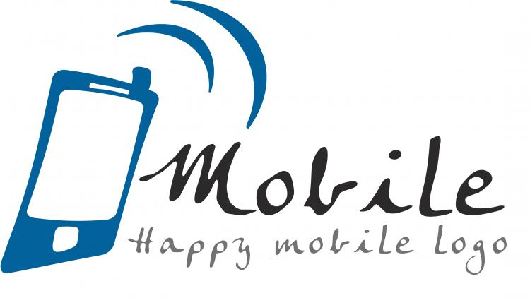 Happy Mobile Logo Free Vector 4vector