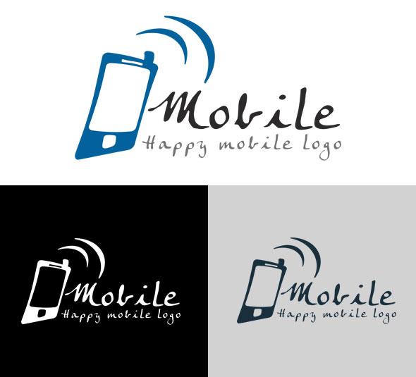 free vector Happy Mobile Logo