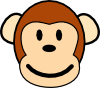 free vector Happy Monkey clip art