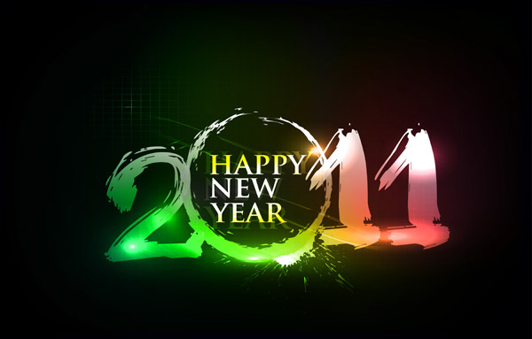 free vector Happy new year 2011 eps Vector part03