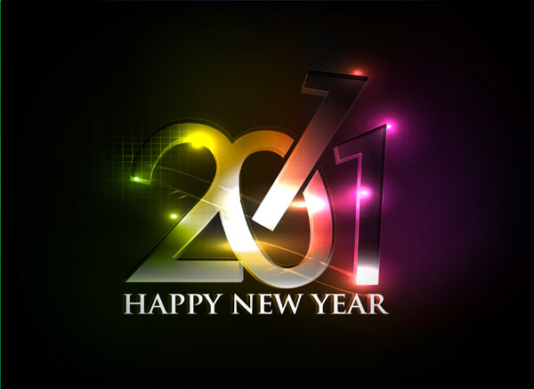 free vector Happy new year 2011 eps Vector part04