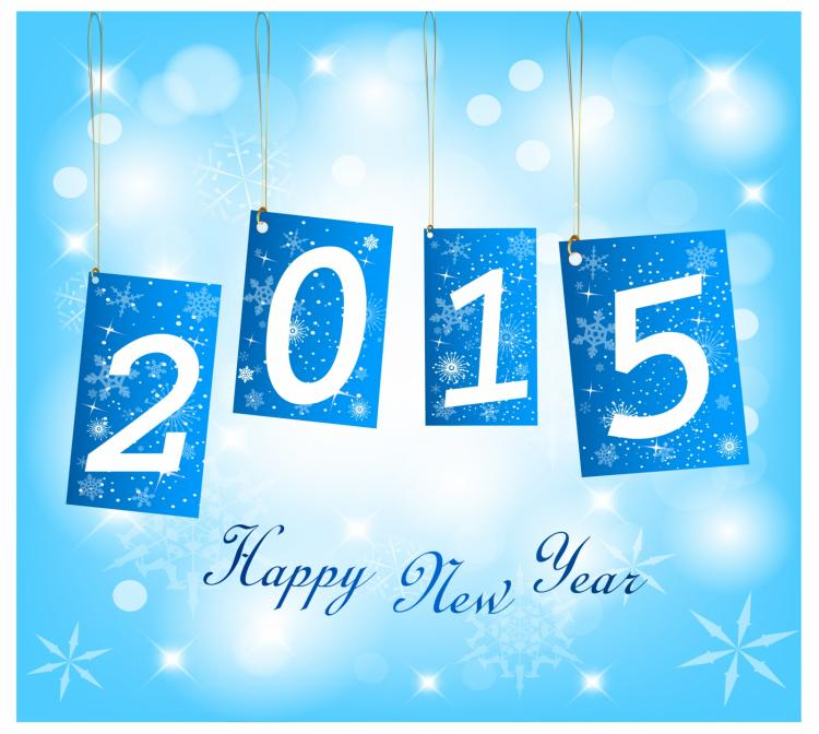 free vector Happy new year 2015