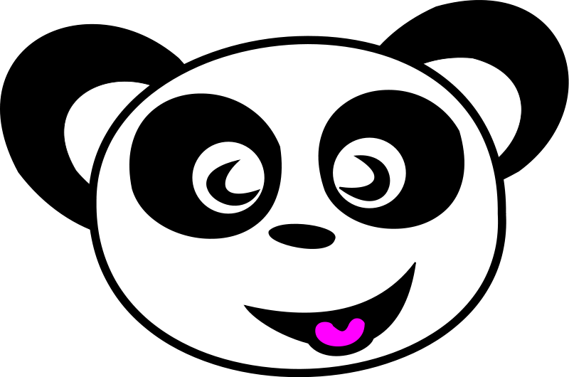 free vector Happy Panda Face