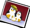 free vector Happy Penguins Family Photo clip art
