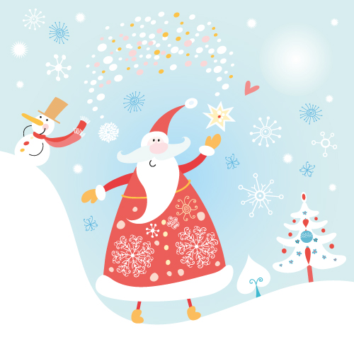 free vector Happy santa claus vector