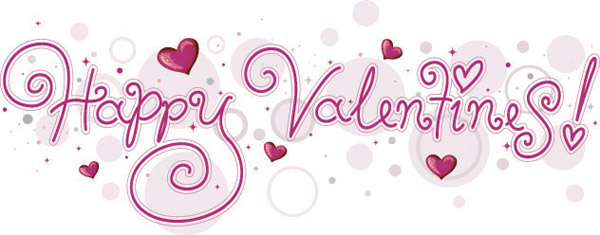 free vector happy valentine day wordart vector - Happy Valentines Day Pictures Free