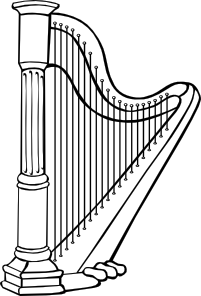 Clip Art Harp Clipart harp clip art free vector 4vector art