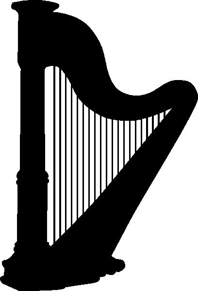 free vector Harp Silhouette clip art