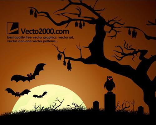 free vector Haunted Dark Nights